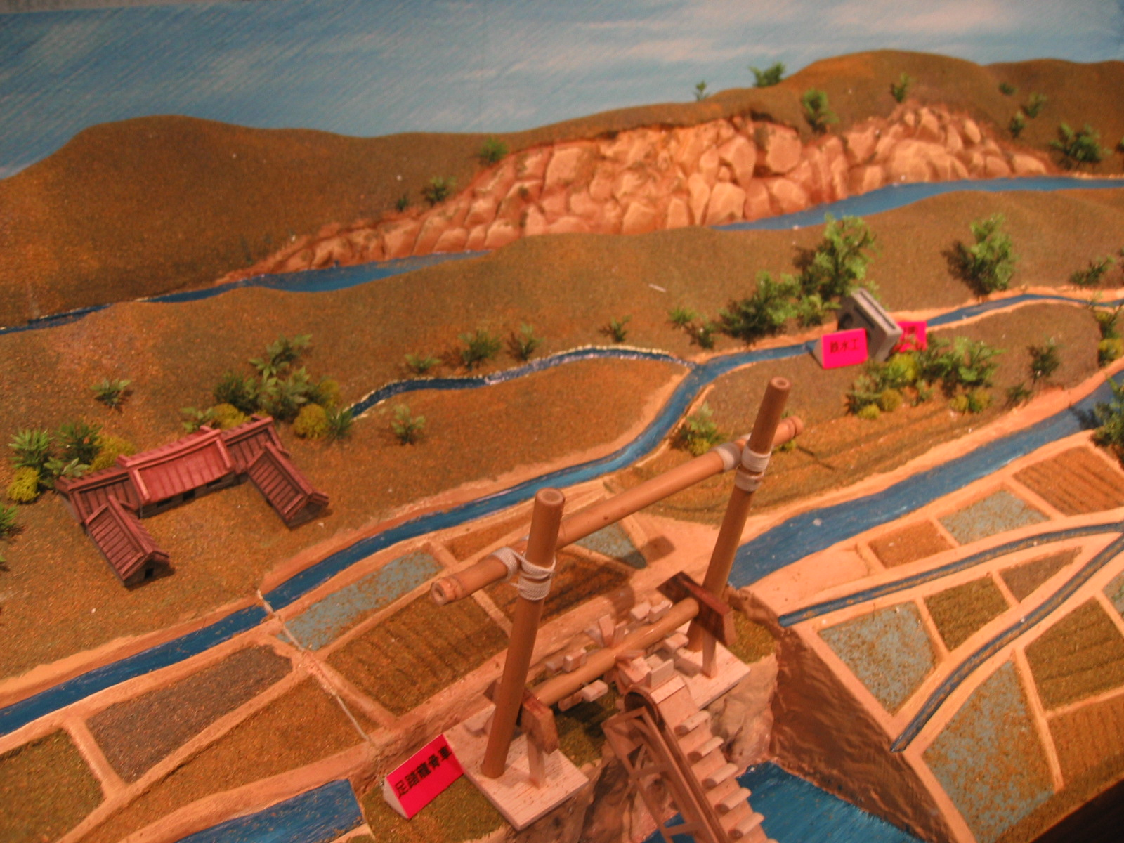 A model of the Liukung irrigation canals at the exhibition