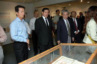 Mayor Ma at the exhibition