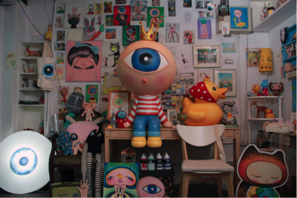 4. Mr. Eyeball's exhibit encourages people to pursue their own happiness. (Photo courtesy of Original Festival)