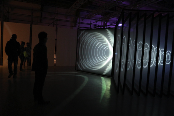 "NONOTAK Studio's 2014 work ""DAYDREAM V.02"" explores the relationship between space, time, acceleration, contraction, shifts, and metamorphosis. (Photo courtesy of DOCA)."