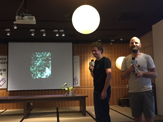 "2. Dutch designers Bennie Meek (right) and Vincent Wittenberg present their ""Forest Bathing in Taipei"" proposal for the 2016 World Design Capital at the Designer in Residence program press conference in Taipei on Wednesday, July 27.<br/>Photo Courtesy of DOCA contributor Wendy Kuo"