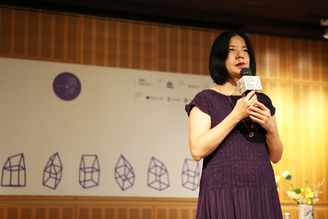 3. Pei-ni Beatrice Hsieh, commissioner of the municipal Department of Cultural Affairs, speaks at the 2016 World Design Capital press conference in Taipei on Wednesday, July 27. Photo Courtesy of WDC 2016 Taipei.