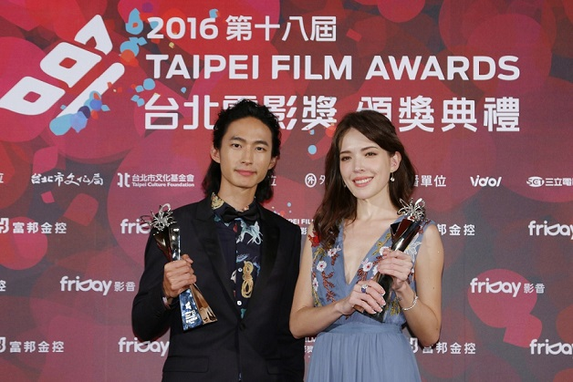 4. River Huang and Ann Hsu, the winners of this year's Best Actor and Best Actress, for The Tag-Along. (Photo courtesy of TFF)