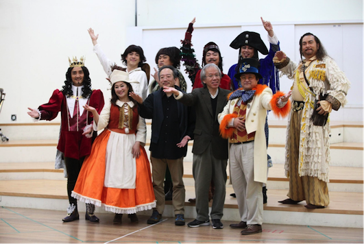 <br/>2. TSO director Shu-Si Chen (front center) and opera director Chao Tzu Chiang (right front) welcome children to the performance. (photo courtesy of DOC)