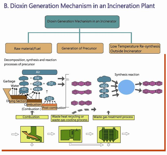 Dioxin Generation Mechanism in an Incinerator Plant
