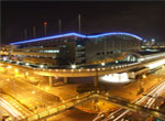 Neon Lights Shining at Taipei Nangang Exhibition Center Station, jpg download, opened with new window