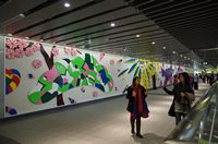 Artwork ''The Four Seasons'' at the Xinyi Line's Daan Park Station, jpg download, opened with new window