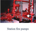 Station fire pumps