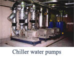 Chiller water pumps