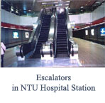 Escalators in NTU Hospital Station