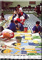 Children's mosaic collage