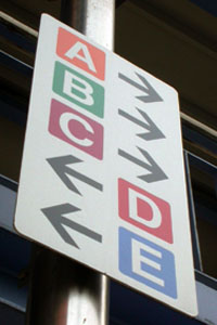 Direction Sign Plate