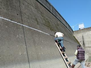 大壩設施維護照片左中--壩體維護