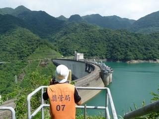 大壩安全檢查照片左下--大壩變位量測