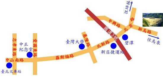 翡翠水庫位置圖