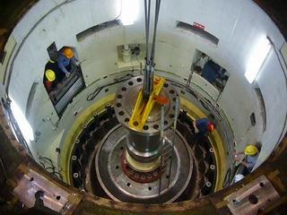 大壩設施維護照片左上--電廠大修