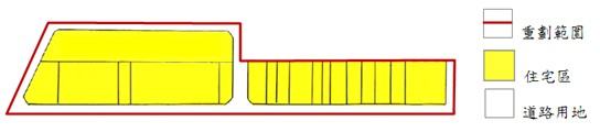 中山區第一期市地重劃範圍及土地使用分區示意圖