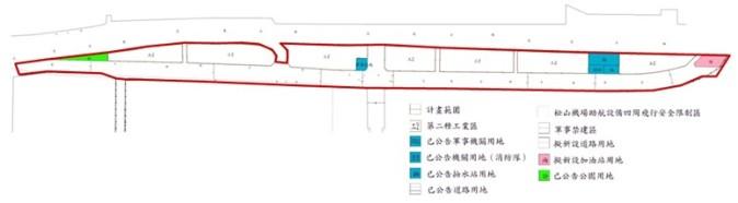 中山區第八期市地重劃範圍及土地使用分區示意圖