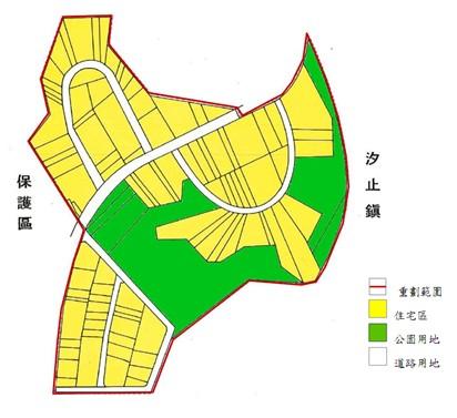 內湖區第八期市地重劃範圍及土地使用分區示意圖
