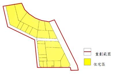 北投區第五期市地重劃範圍及土地使用分區示意圖