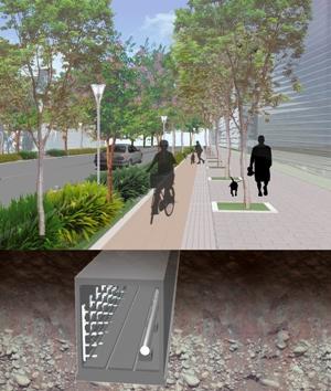 北科園區道路工程與共同管道簡易示意圖