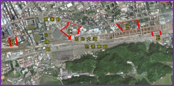 南港區第三期市地重劃區航照位置圖
