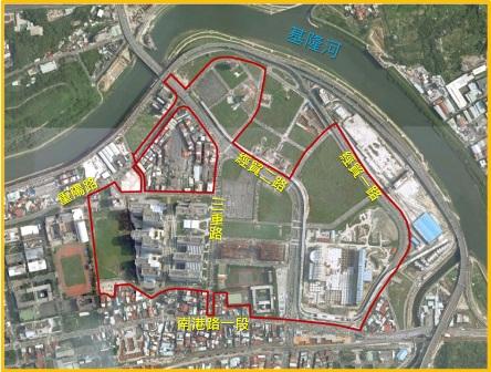 南港區第一期航照位置圖