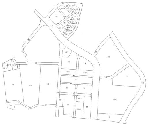 南港區第一期市地重劃區重劃後地籍圖