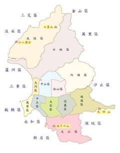臺北市一等衛星控制點分佈圖