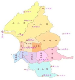 臺北市二等衛星控制點分佈圖