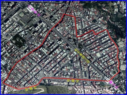 大安區第一期航照位置圖