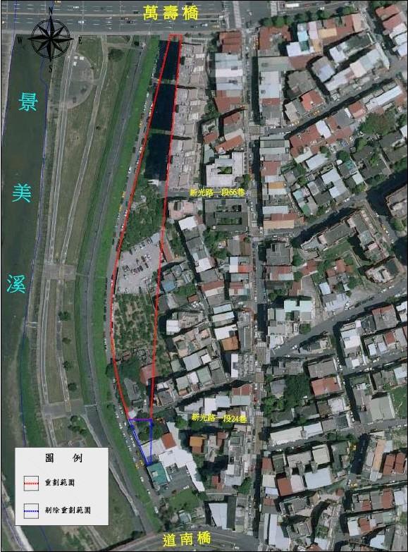 文山區第一期市地重劃區航照位置圖