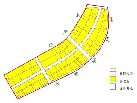 木柵區第一期市地重劃範圍及土地使用分區示意圖