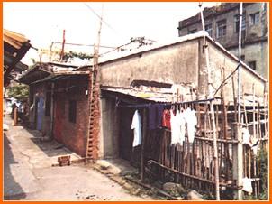 木柵區第三期重劃前,房屋簡陋,部分土地作魚塭使用之一