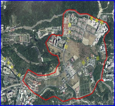 木柵區第二期航照位置圖