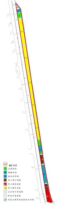 松山區第五期市地重劃範圍及土地使用分區示意圖