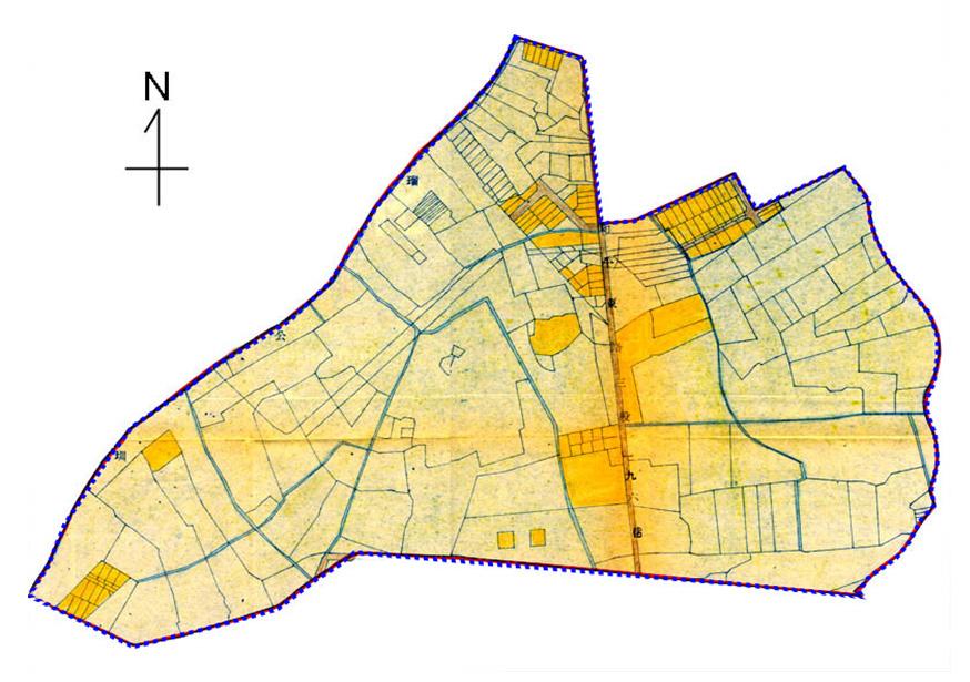 開新視窗-大安區第一期重劃前地籍圖