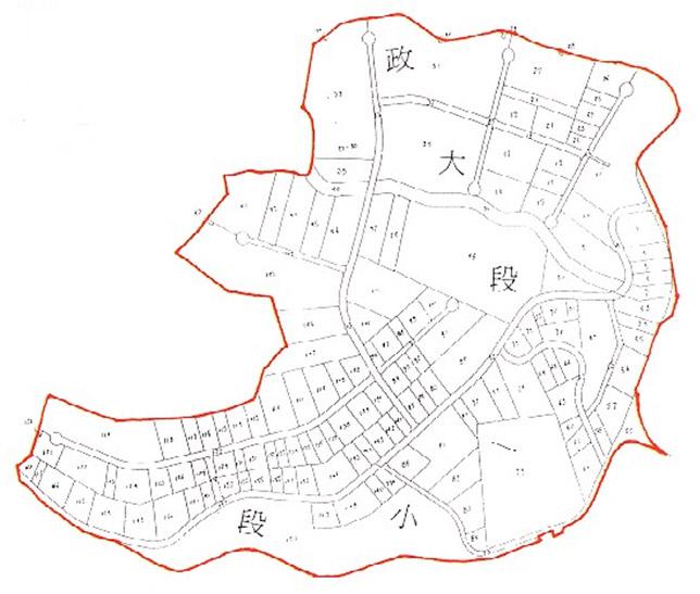 開新視窗-木柵區第二期重劃後地籍圖