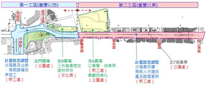 「西區門戶計畫」公共工程示意