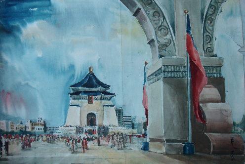 一幅圖畫:中正紀念堂
