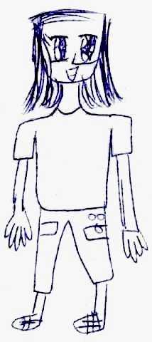 一幅圖畫:女生