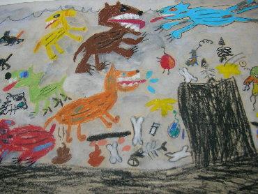 一幅圖畫:流浪狗
