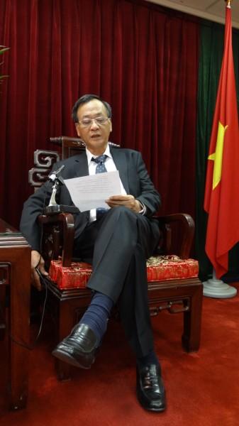 駐臺北越南經濟文化辦事處代表裴仲雲錄製賀詞