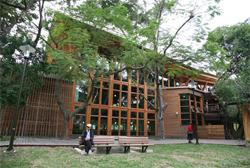 北投圖書館的綠建築營造出不同於傳統的閱讀空間。