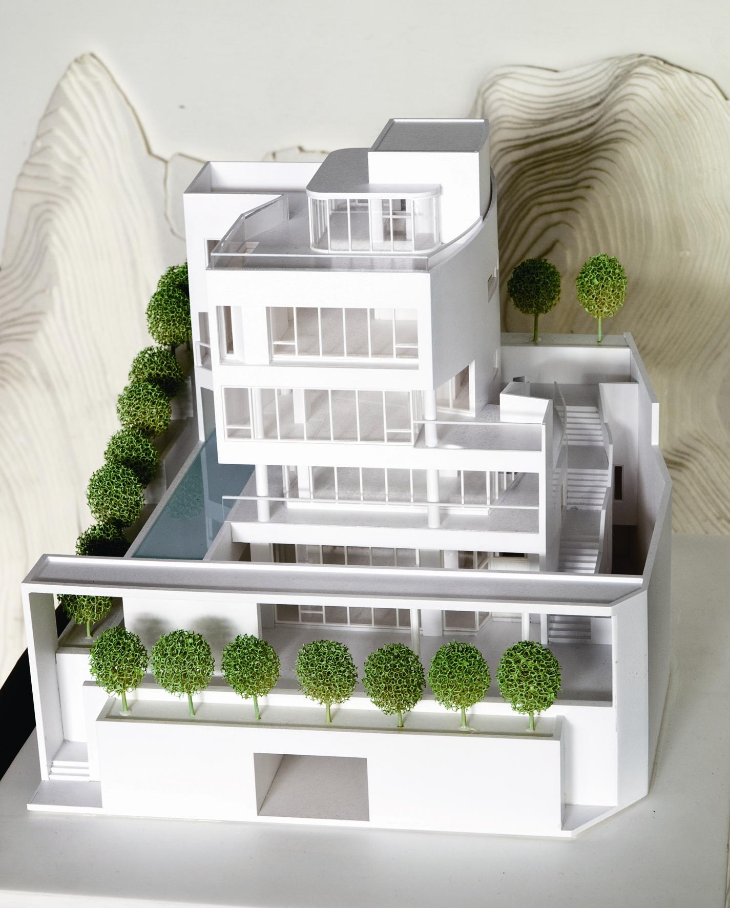 位於天母的「玖住章」別墅建案,整個空間和動線設計簡單中又