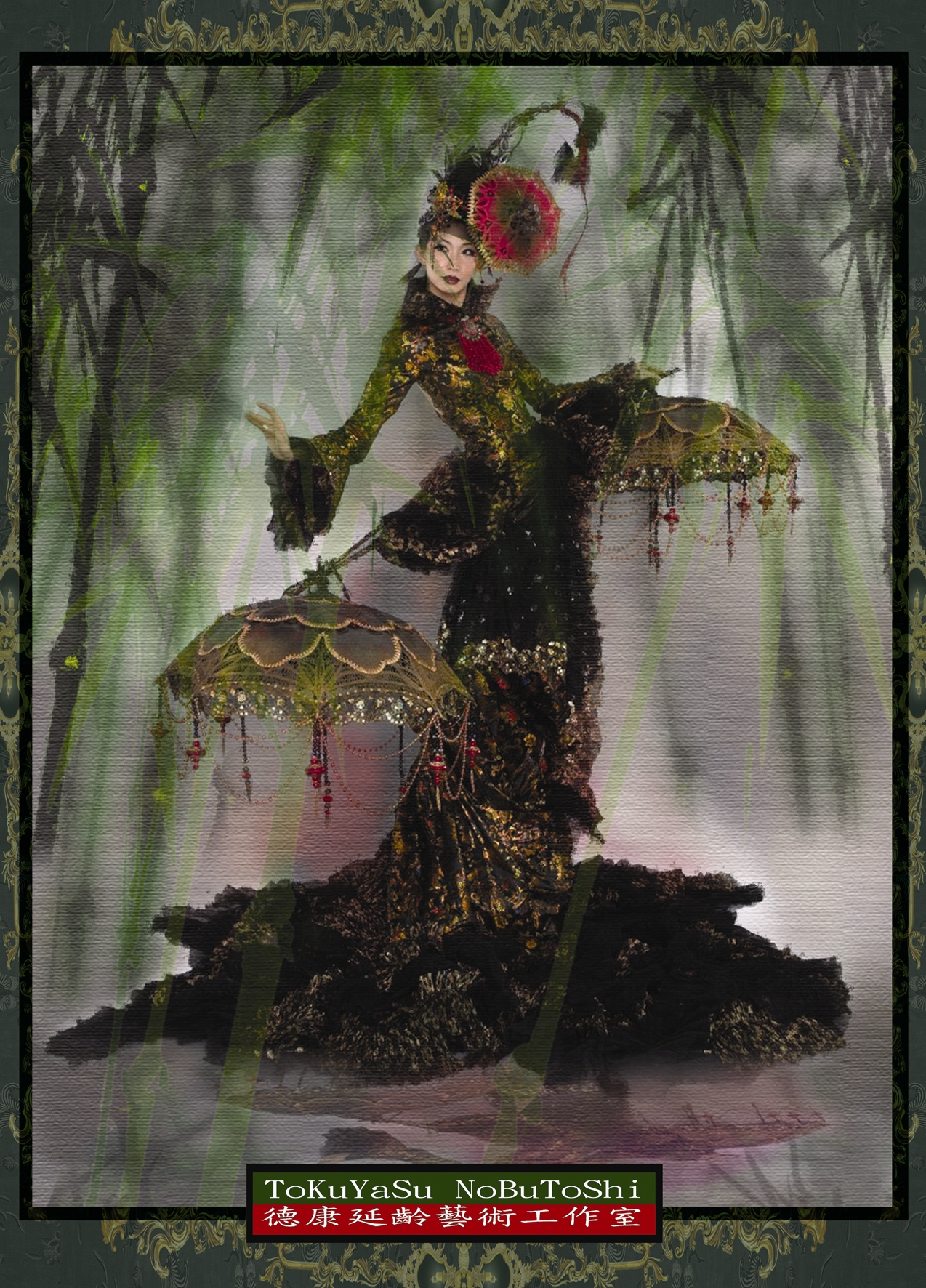 「花時間」(再生花)運用人造花茶花、舞台服裝布料等回收材
