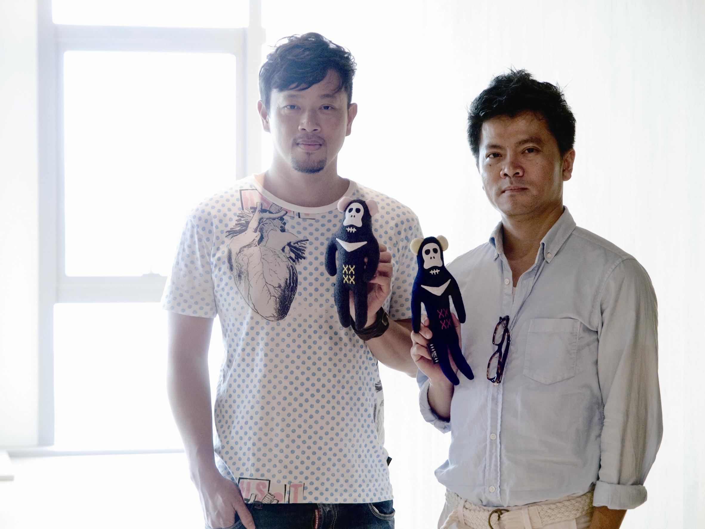 兩個八月盧袗雲(左)與莊瑞豪(右)在設計中融入充滿環保、