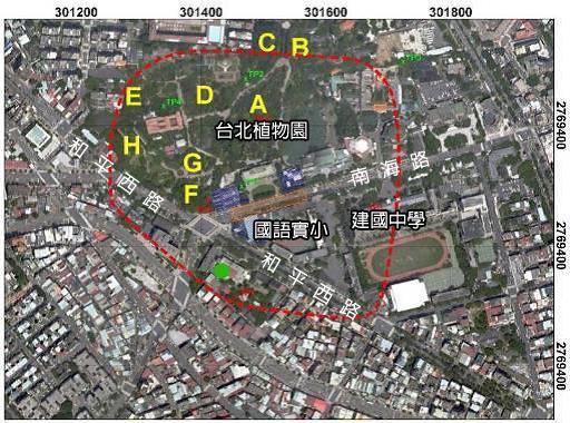 植物園遺址範圍圖