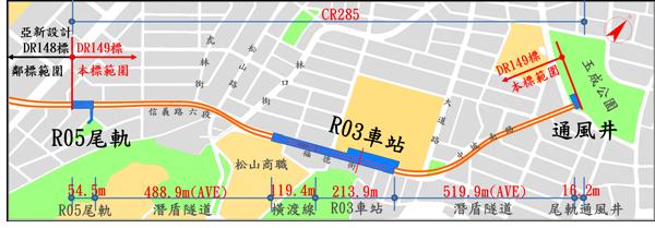 R03車站平面示意圖