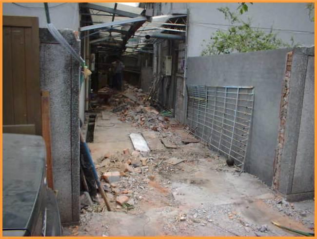 違建拆除後使後巷淨空寬度達3公尺